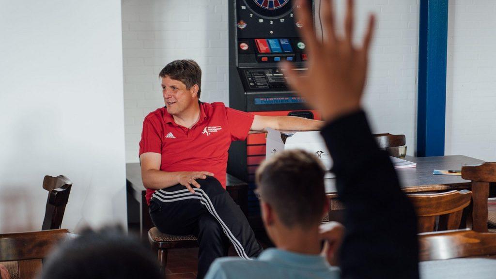 Schiedsrichterausbildung im Vereinsheim des GSC